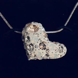 Swarovski Asymmetrical Heart necklace